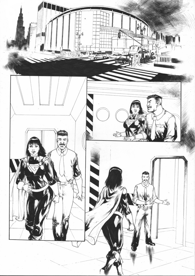Page 1 of the future issue of Argo 5 guest starring YOUR characters!