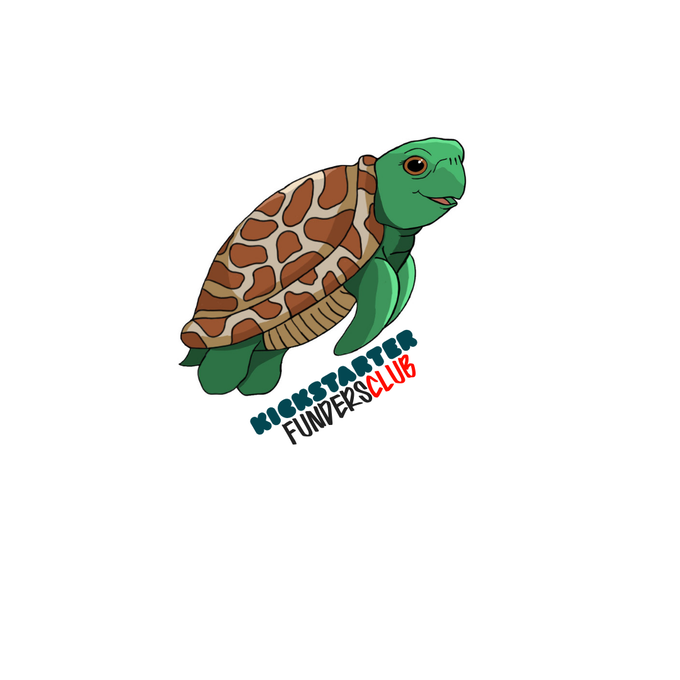 KICKSTARTER exclusive sticker of Shelly the Sea Turtle