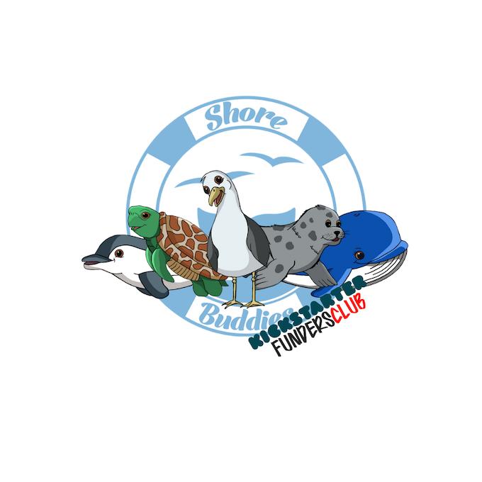 *KICKSTARTER exclusive sticker of the Shore Buddies group