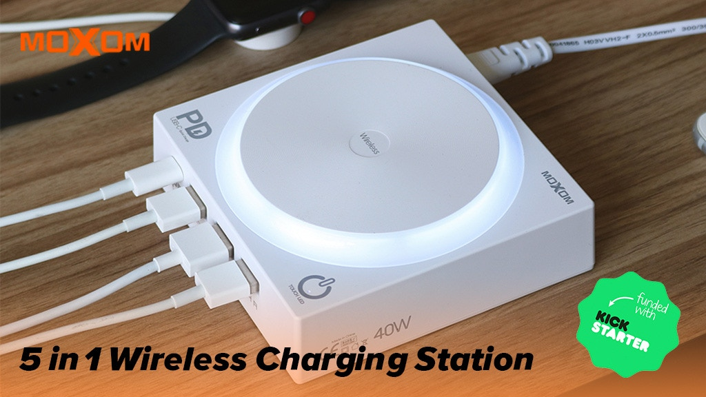 MOXPOWER Fast Wireless Charger for Qi-Enabled Devices project video thumbnail