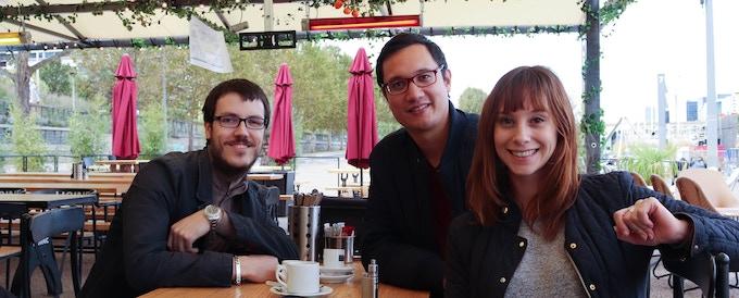 The team Chris, Jean-Laurent, Iris