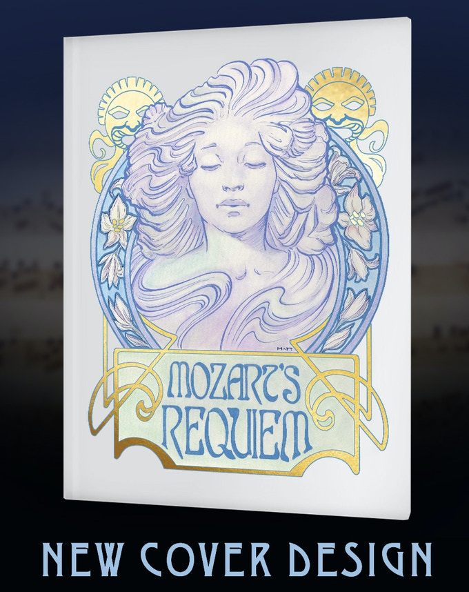 New Cover Design for Mozart's Requiem: An Illuminated Manuscript