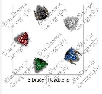dragon heads
