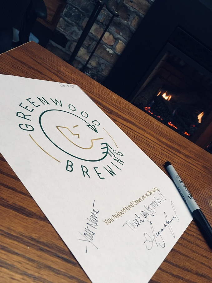 Greenwood Brewing 8.5x11 Print (signature paper not shown)