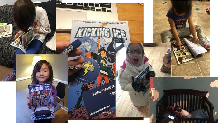 Kicking Ice Backer Photos