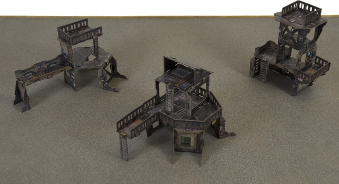 Lighter open structures for skirmish games
