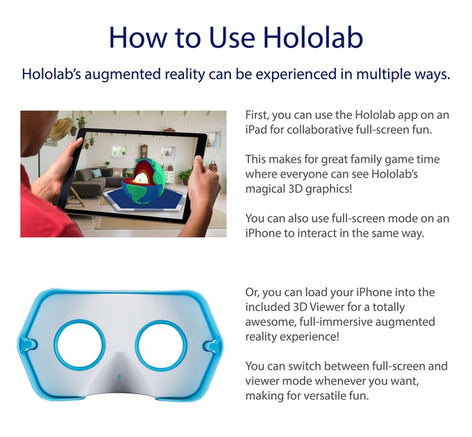 Hololab: Give the Gift of Augmented Reality STEM Fun! by