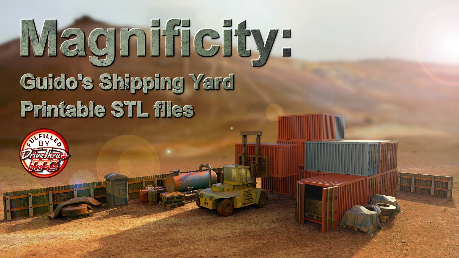 """3d Printable STL files for your 3d printer. These files will be based upon a modern shipping yard. If you are late to the party, click the """"Follow along!"""" button to go to the webstore to purchase. (at an increased price, sorry)"""