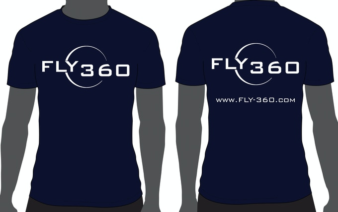 Fly-360 T-shirt  (blue)