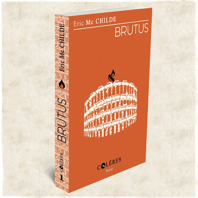 Brutus, the hard-boiled novel that inspired the Brutus board game.