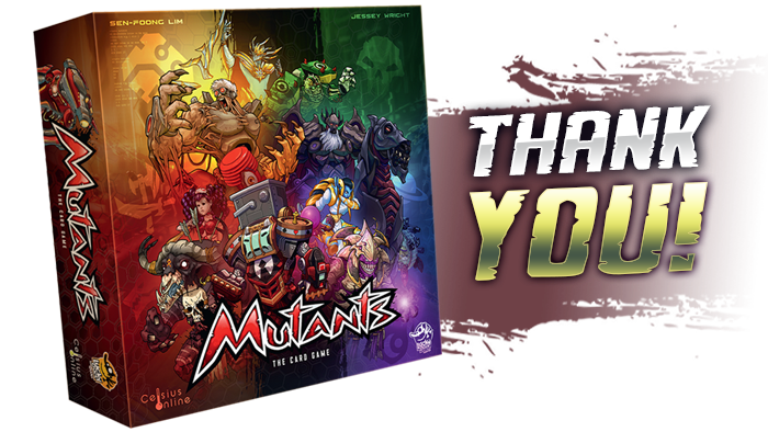 Mutants is an innovative deck-builder, featuring an asymmetric market, hand management, and long term planning.
