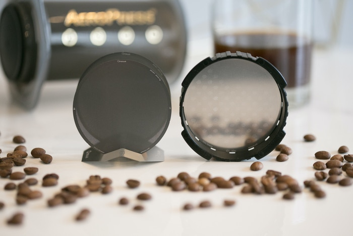 Ultra high precision stainless steel filters for the AeroPress. Eco-friendly and durable. Brew a cleaner, smoother cup of coffee!