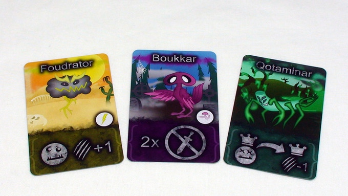 Some monsters. Respectively: Foudrator, Boukkar and Qotaminar (standard version)