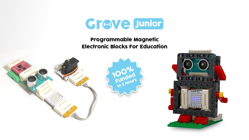 Grove Junior: Snap-and-Play programmable modules $29 project video thumbnail