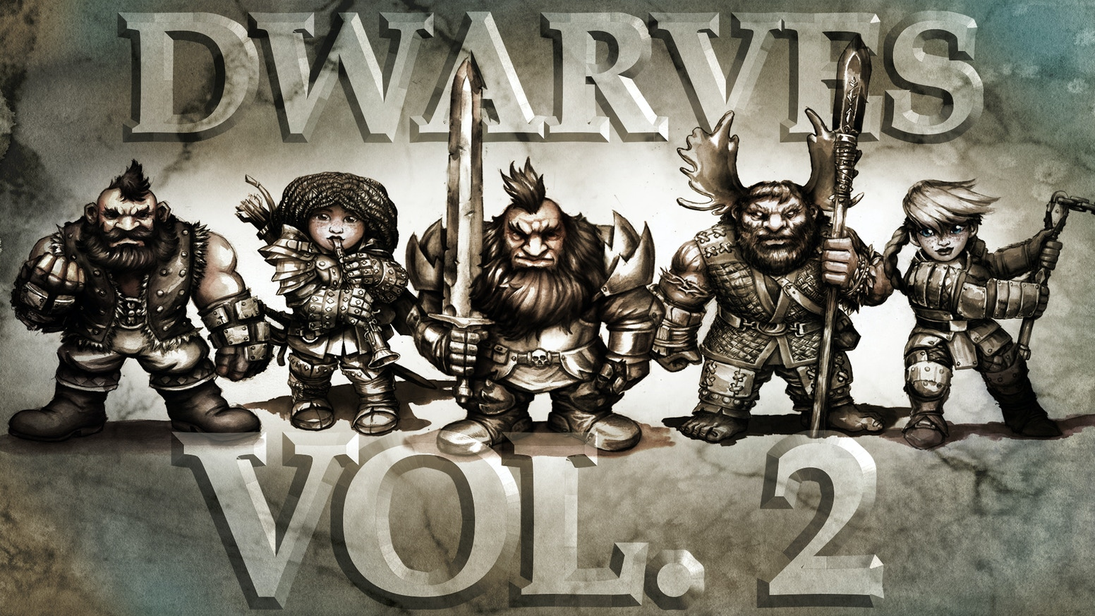We're going to make as many dungeon-crawling, dragon-slaying, little-hairy-swimming 28mm scale tabletop dwarven hero minis as we can!