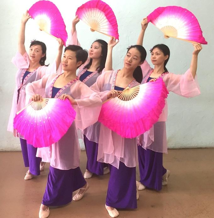 Red Silk Dancers