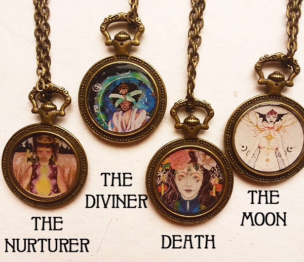 Left to right: The Nurturer, The Diviner, Death, The Moon.