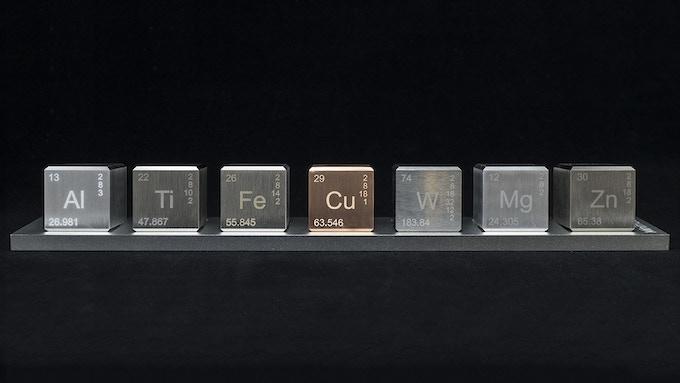 Aluminum, Titanium, Iron, Copper, Tungsten, Magnesium, Zinc