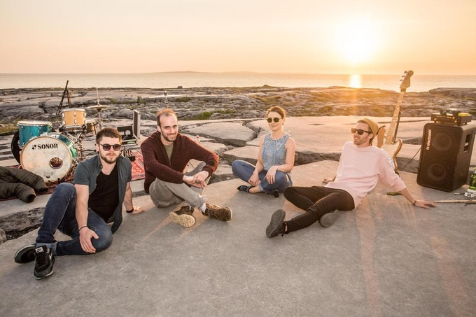 Recording 'July Red Sky' Live in The Burren.