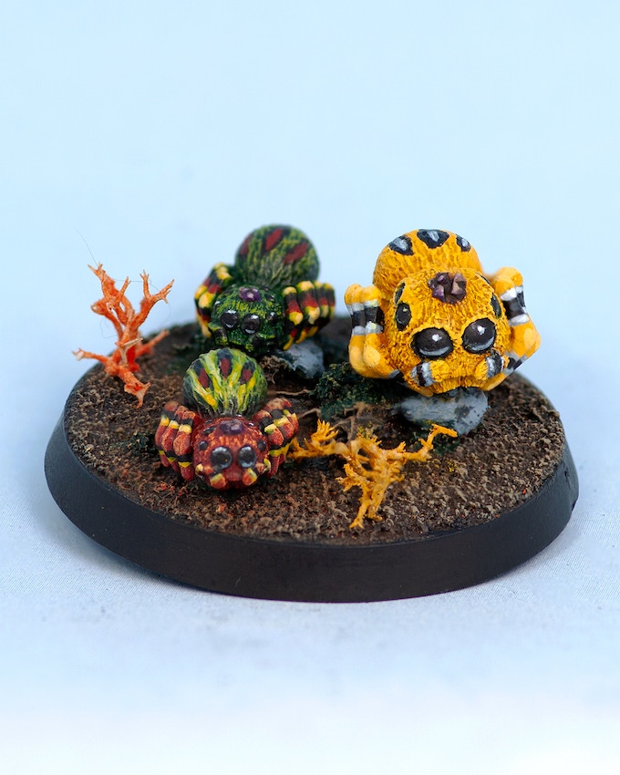 Group of Spiders (40mm round base)
