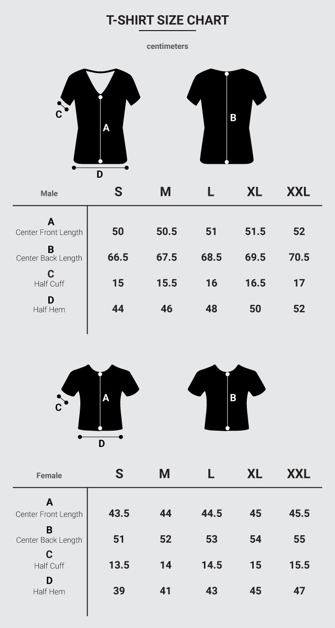 *Please note that XL and XXL will be only available after we've reached our 4th stretch goal*