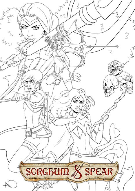 Sorghum & Spear cover by Ashley A. Woods (WIP)