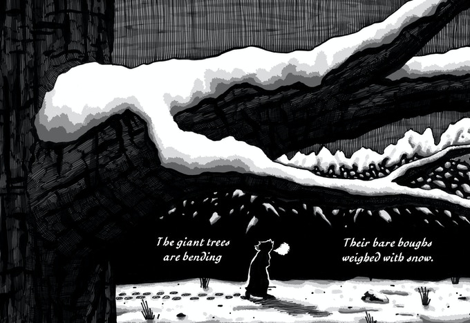 """An excerpt from one of my short comics, """"Spellbound,"""" based on the Emily Brontë poem."""