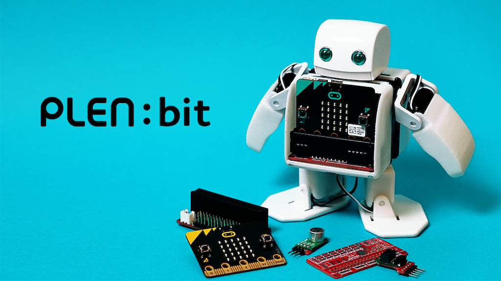 PLEN:bit : Sensor controlled Robot using the micro:bit