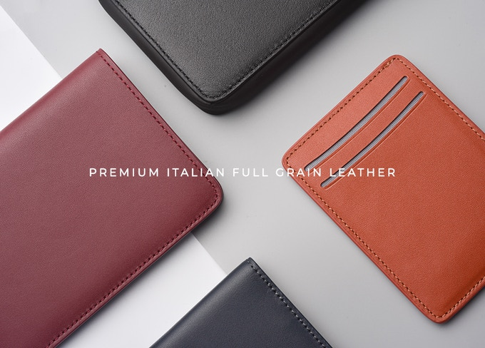 All our wallets are made from Full Grain Italian Leather to ensure durability and withstand the wear and tear of our daily lives.