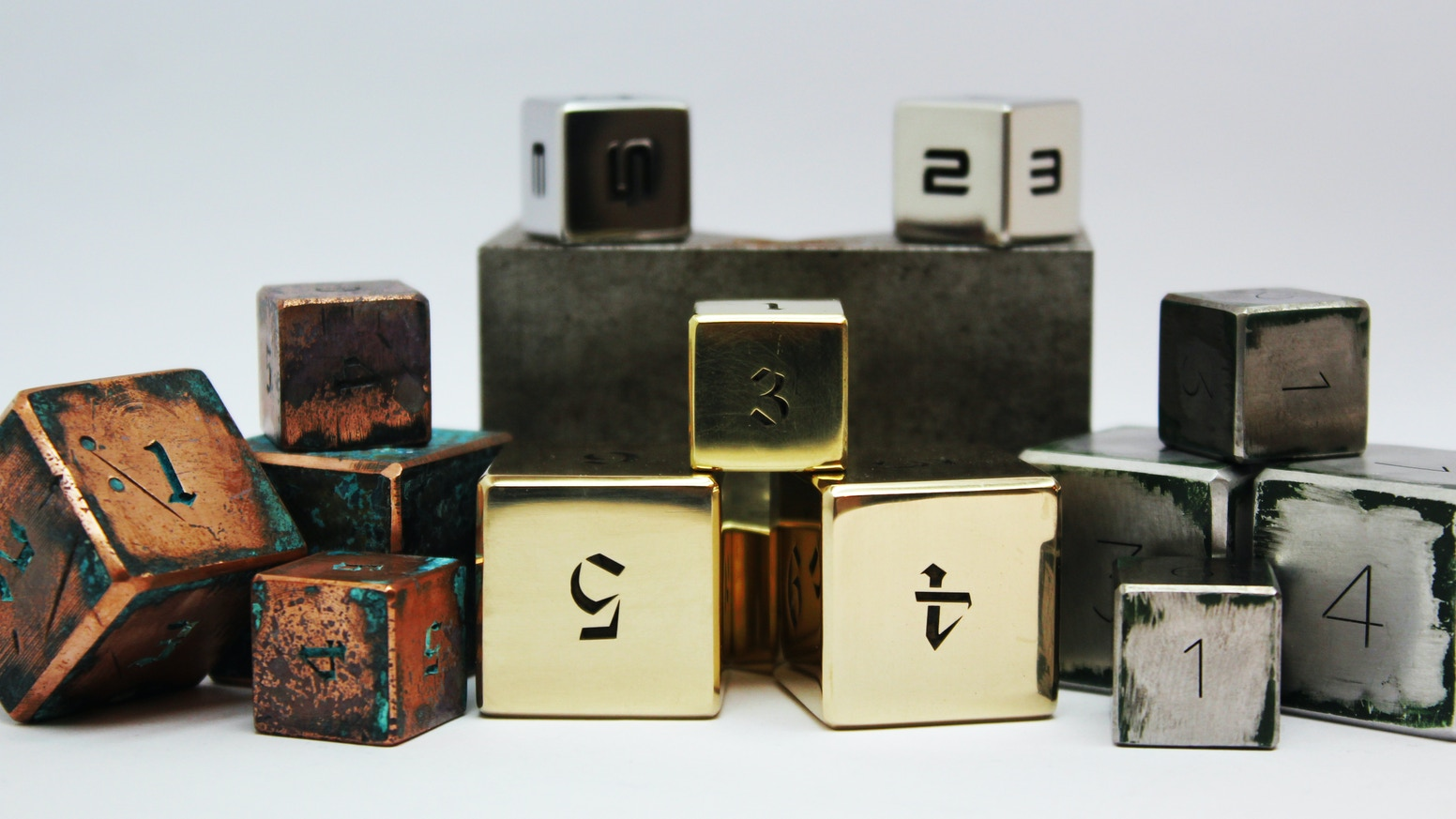 Original Metal Dice from Pure Natural Metals are created! Soon the World will change ...