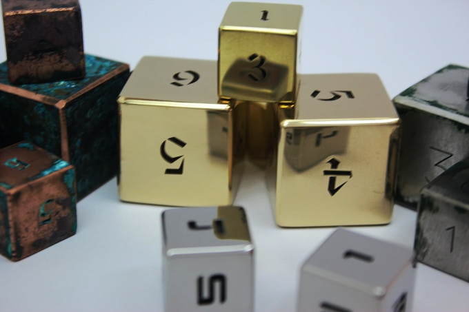 You get exactly such polished cubes. This is not paint or anodizing, but the real brilliance of pure metal ingot.