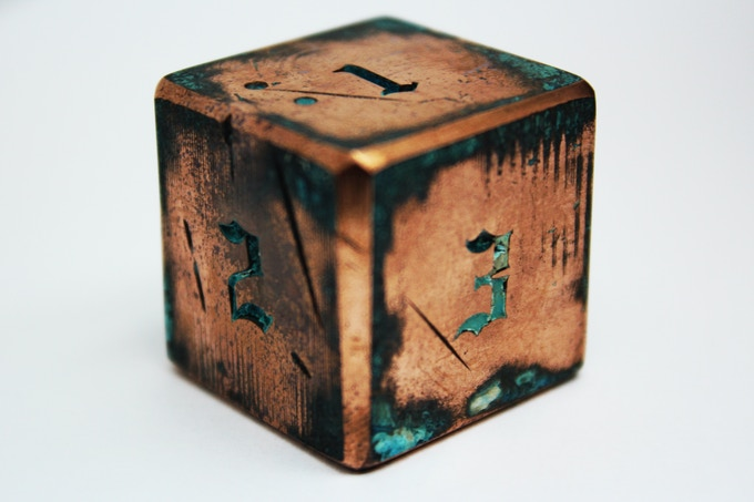 25 mm. You will get just such a Dice as you can see in the picture. With texture and rustic.