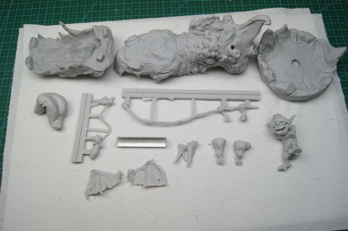 The Rockgnaw kit: high quality grey resin