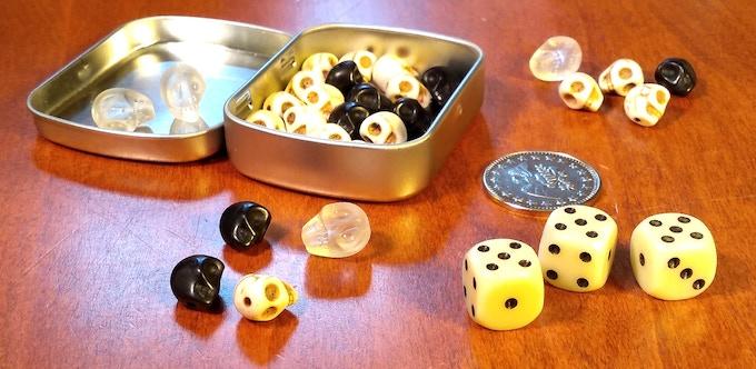 Mint Tin Mini Skulduggery (not final coin or pressed tin)