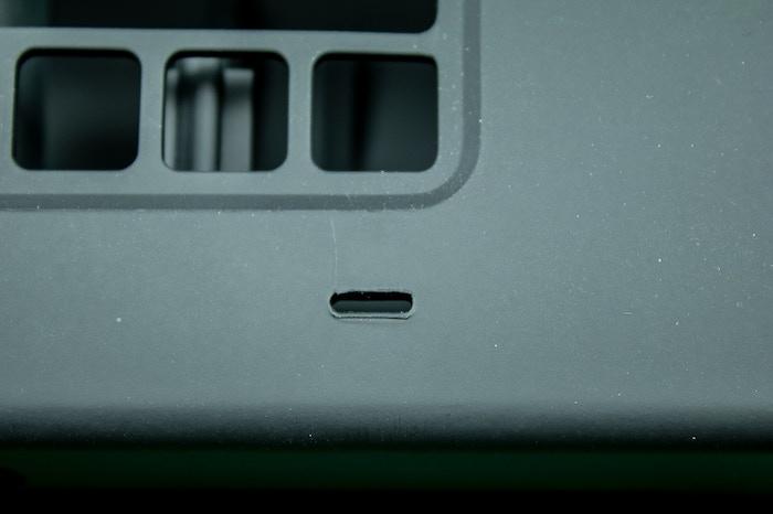 Closeup of the flash