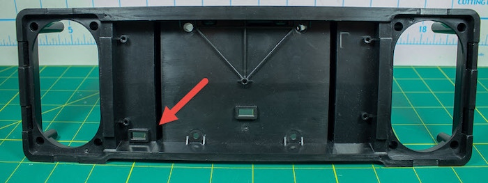 The speaker frame and the hole we need to increase.