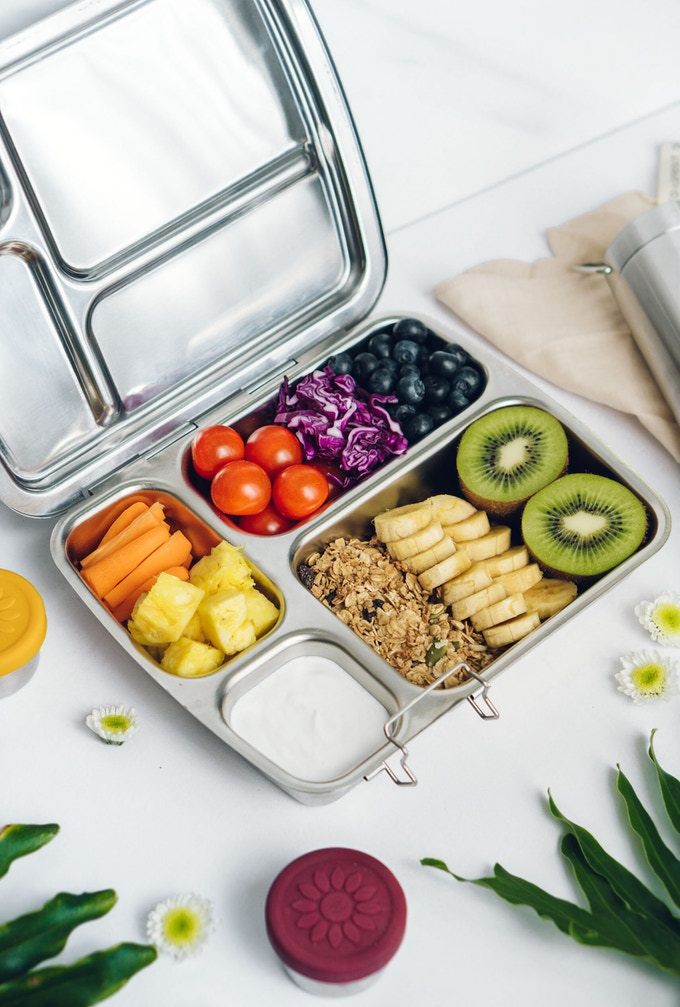 Beautiful, fresh lunches are easy in the CrunchBox