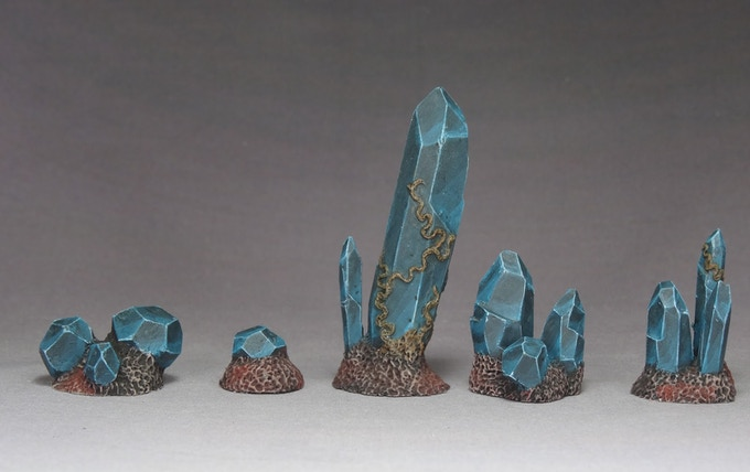 The 5 Crystal Models without bases, painted by JB.