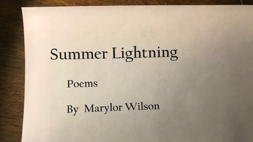 SUMMER LIGHTNING: A BOOK OF POETRY BY MARYLOR WILSON project video thumbnail