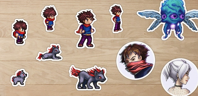 Sticker prototypes! Backers will be able to vote for the best stickers