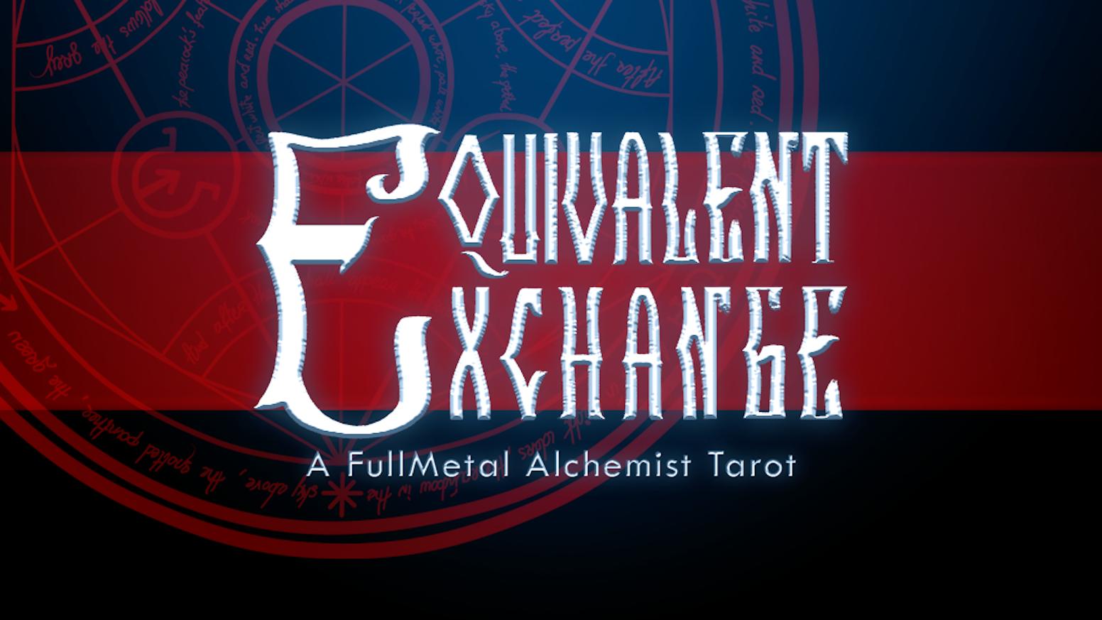 Full Metal Alchemist Pdf Fr equivalent exchange tarotcatstealers-zines — kickstarter