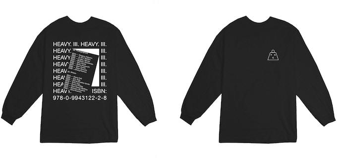 Heavy Long Sleeve T-shirt (black) 100% cotton In sizes XS — XL