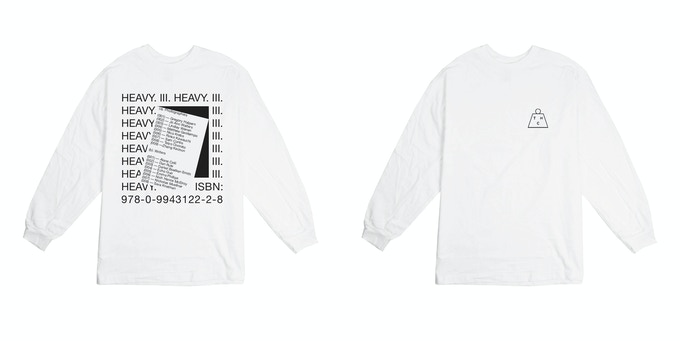 Heavy Long Sleeve T-shirt (white) 100% cotton In sizes XS — XL