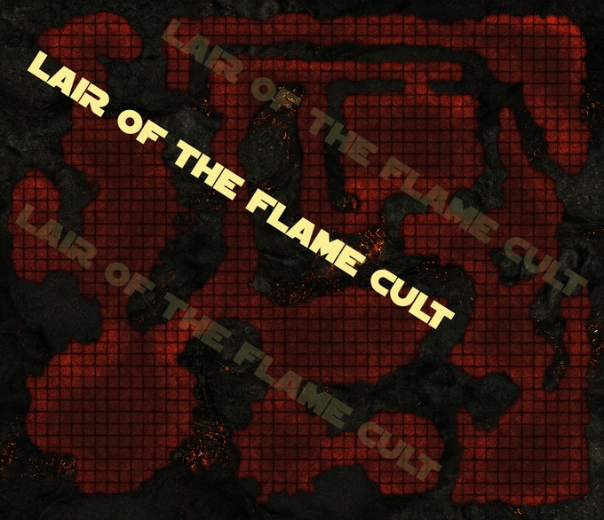 Lair of The Fire Cult full map layout just beggining
