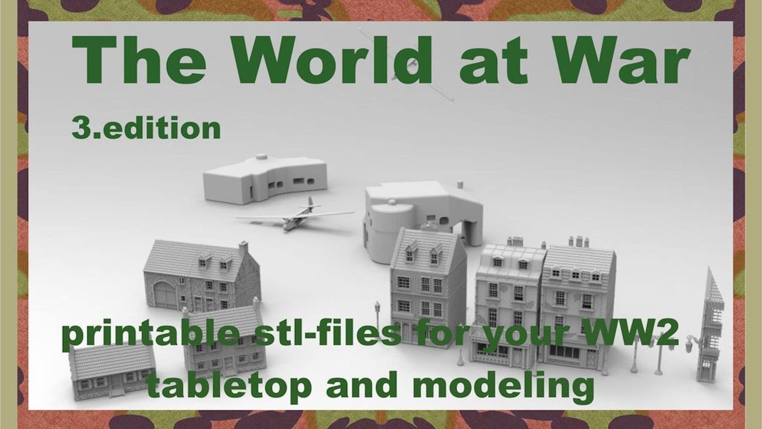 The World at War part III printable terrain by 3D-Print-Terrain