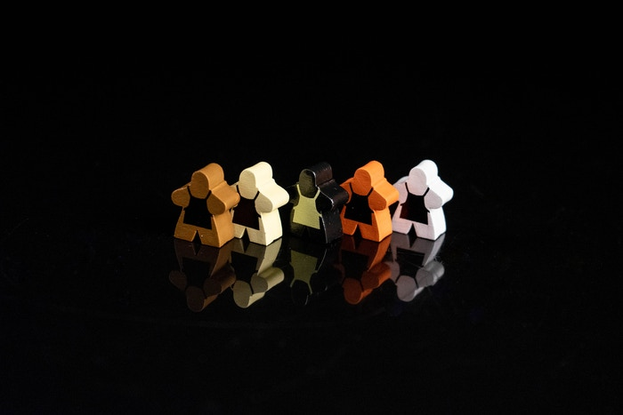 Meeple fronts.