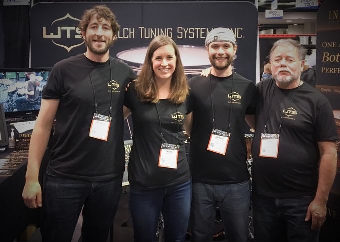 The Welch Tuning Systems team (from left): Patrick Auell, Laura Kraft, Samuel Welch, and John Montaña