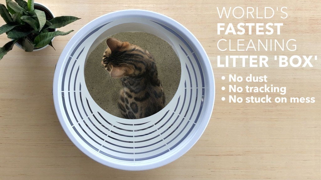Boxscoop 2.0: The World's Fastest Cleaning Cat Litter 'Box' project video thumbnail
