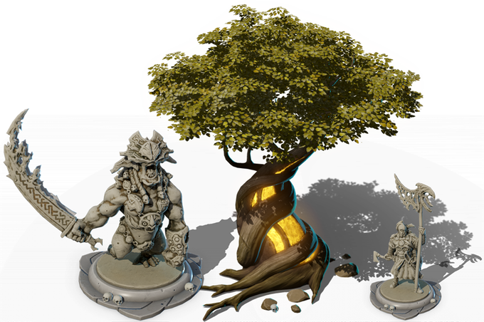 Some of the game's 3D assets.