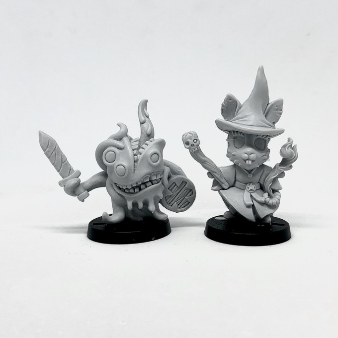 Evil Minions (resin casts).
